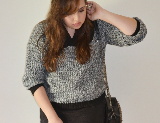 Look do dia com Sweater cinza
