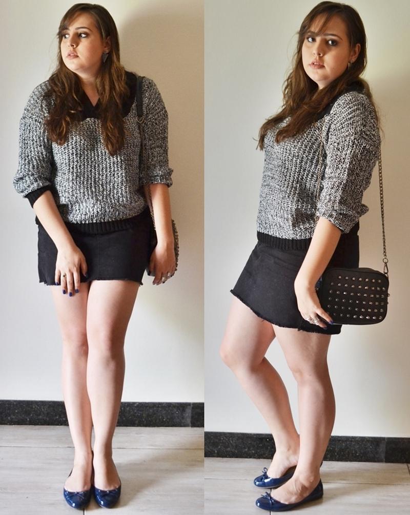 Look do dia com Sweater cinza
