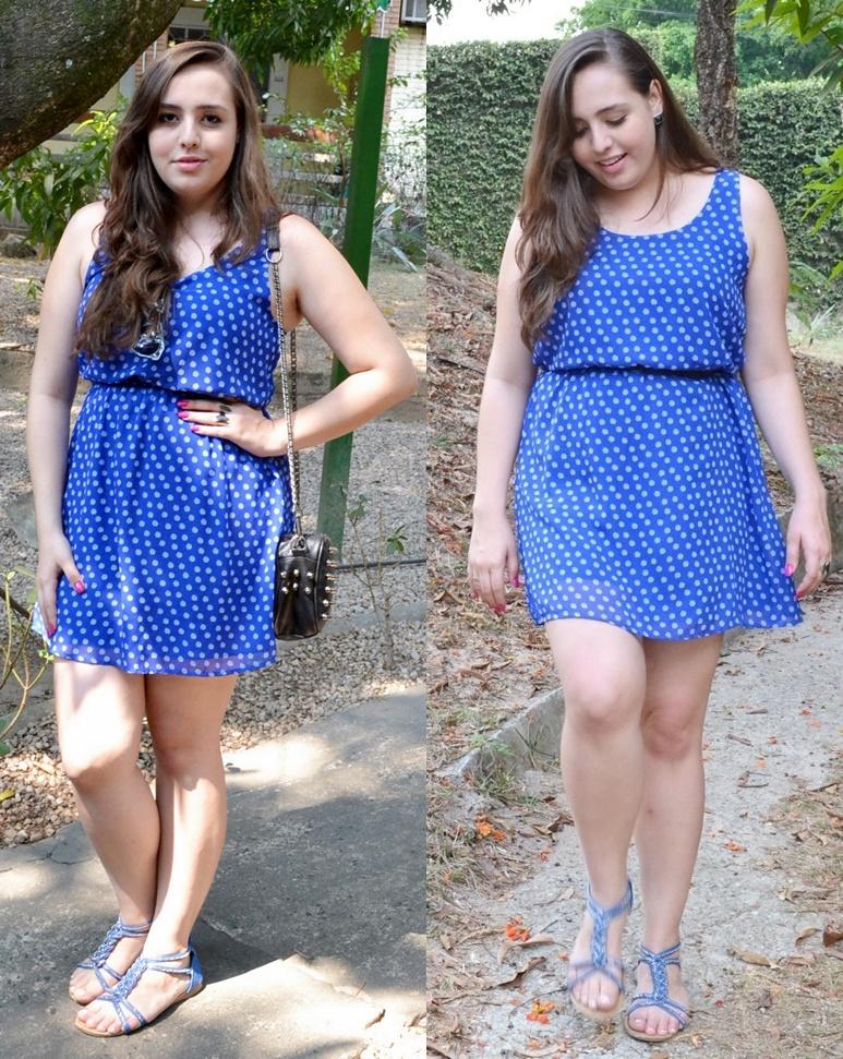 Look plus size com vestido