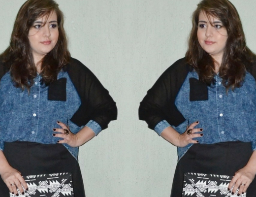 Look usando Camisa jeans plus size