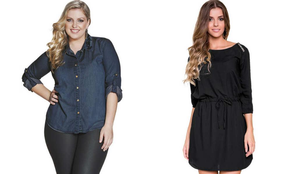 Cropped plus size com estilo