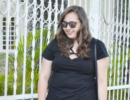 Look do dia short estampado plus size
