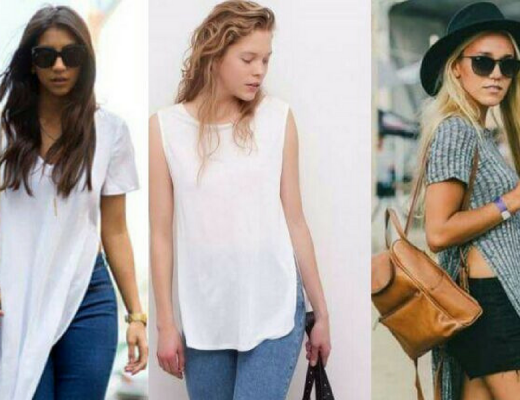 Como usar blusa com fenda lateral