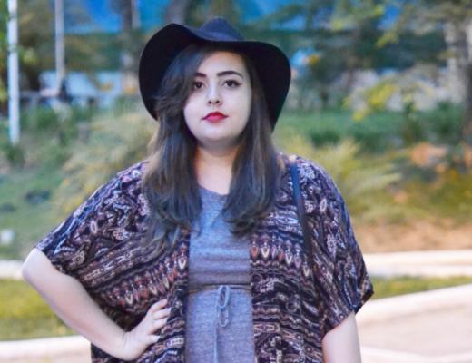 Look plus size com kimono