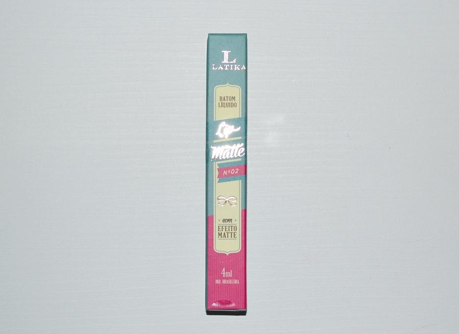 Batom líquido efeito matte Latika cor 2