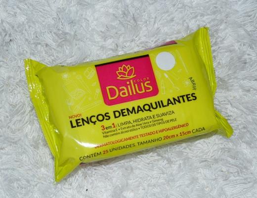Lenços demaquilantes da Dailus