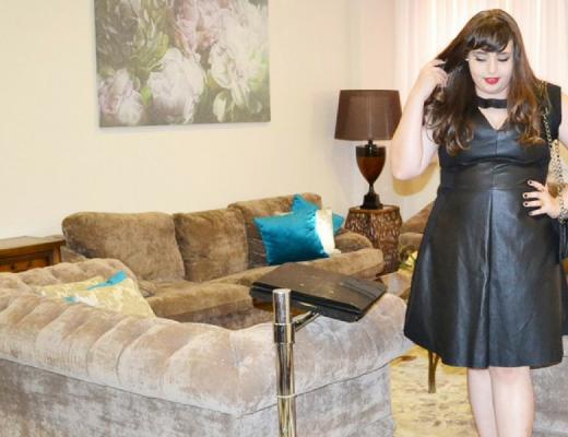look-plus-size-com-vestido-de-couro