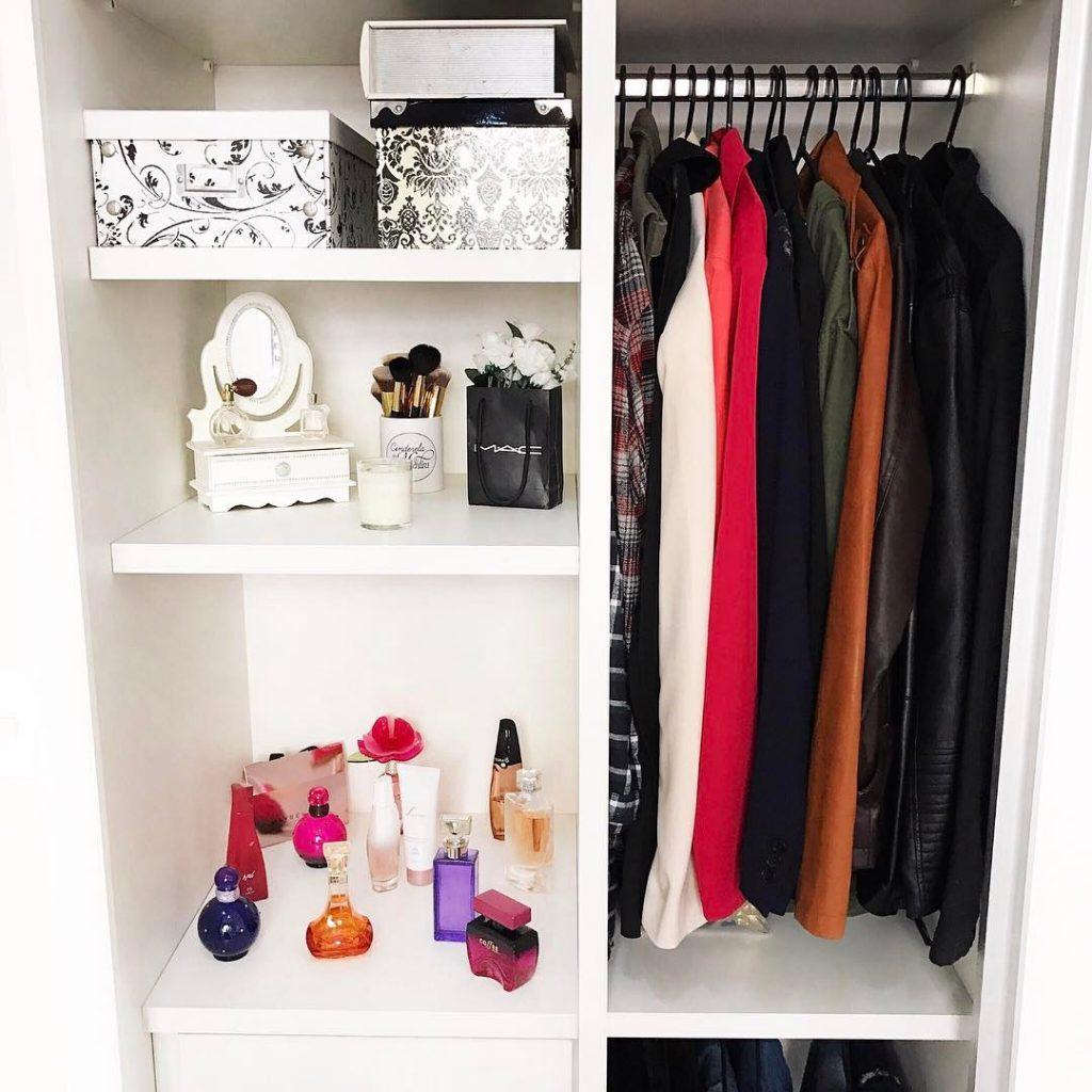Organizando e decorando o guarda-roupa