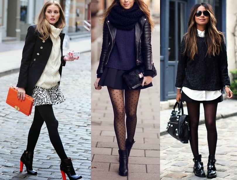 como usar meia calça no inverno