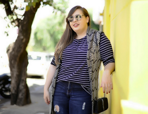 look-plus-size-com-mix-de-estampas-cinderela-de-mentira