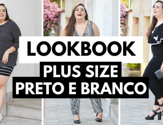 lookbook plus size preto e branco
